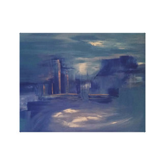 Cityscape Painting Canvas Print