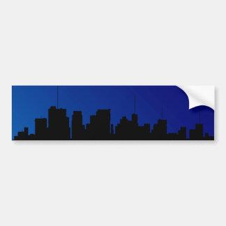 Cityscape Silhouette Bumper Sticker