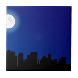 Cityscape Silhouette Tile
