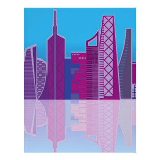 Cityscape vector letterhead