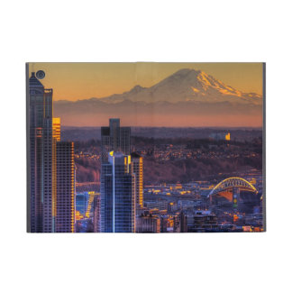 Cityscape view of Seattle downtown, football Covers For iPad Mini