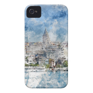 Cityscape with Galata Tower over the Golden Horn iPhone 4 Covers