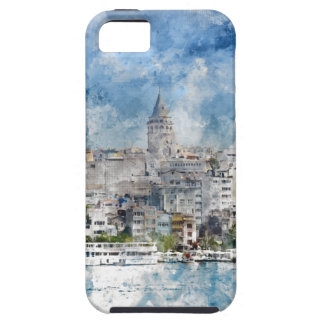 Cityscape with Galata Tower over the Golden Horn iPhone 5 Cases