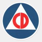 Civil Defence circle Classic Round Sticker