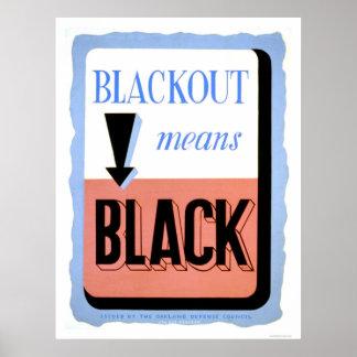 Civil Defense Blackout 1942 WPA Poster