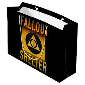 Civil Defense Fallout Shelter Atomic Age Grunge : Large Gift Bag