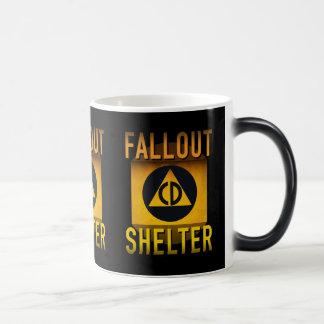 Civil Defense Fallout Shelter Atomic Age Grunge : Magic Mug