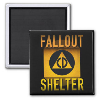 Civil Defense Fallout Shelter Atomic Age Grunge : Magnet