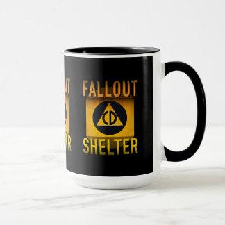 Civil Defense Fallout Shelter Atomic Age Grunge : Mug