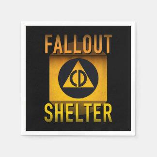 Civil Defense Fallout Shelter Atomic Age Grunge : Paper Napkin