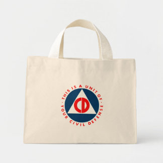 Civil Defense Logo Bag