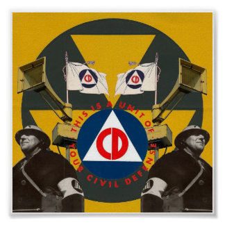 Civil Defense Poster