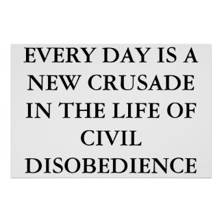 CIVIL DISOBEDIENCE POSTER