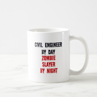 Civil Engineer By Day Zombie Slayer By Night Coffee Mug