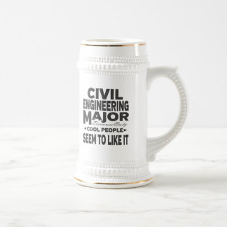 Civil Engineer College Major Cool People Beer Stein