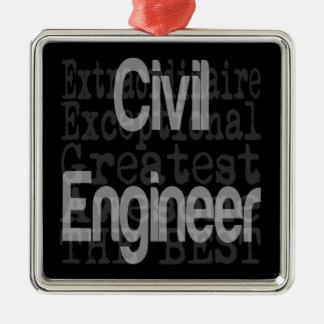 Civil Engineer Extraordinaire Metal Ornament