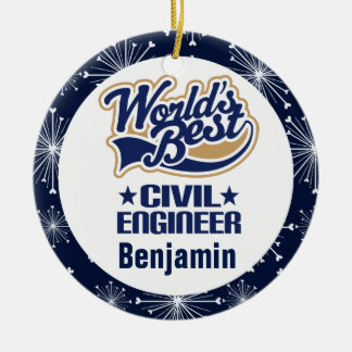 Civil Engineer Personalized Gift Ornament
