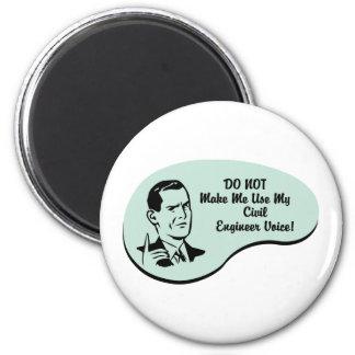 Civil Engineer Voice Magnet