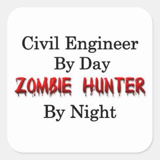 Civil Engineer/Zombie Hunter Square Sticker