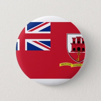 Civil Ensign Gibraltar, United Kingdom 2 Inch Round Button
