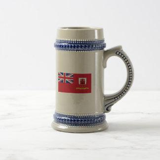 Civil Ensign Gibraltar, United Kingdom Beer Stein