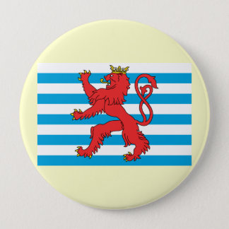 Civil Ensign Luxembourg, Luxembourg 4 Inch Round Button