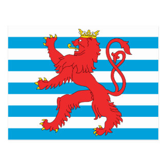 Civil Ensign Of Luxembourg, Lithuania flag Postcard