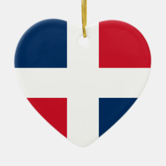 Civil Ensign Of The Dominican Republic, Denmark Ceramic Heart Ornament