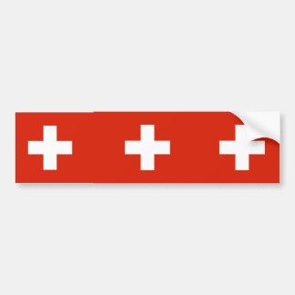 Civil Ensign Switzerland, Switzerland Bumper Sticker