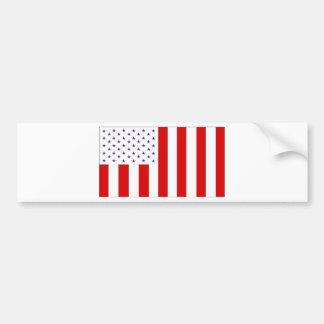 civil flag bumper sticker