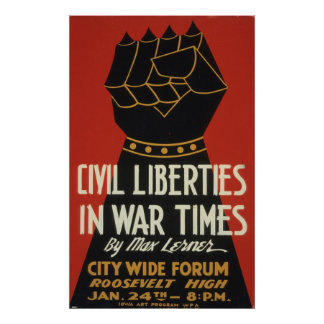 Civil Liberty WWII 1940 WPA Vintage Poster
