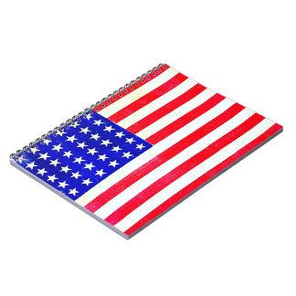 Civil War American Flag 1865 Spiral Notebooks