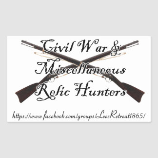 civil war and misc relic hunters decal