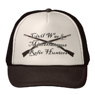 civil war and misc relic hunters netted hat