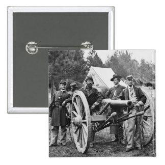 Civil War Artillery, 1860s 2 Inch Square Button