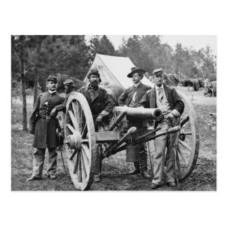 Civil War Artillery, 1860s Postcard