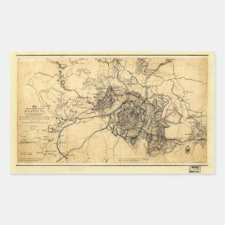 Civil War Atlanta Ga. Map (July 19 - Aug 26 1864)