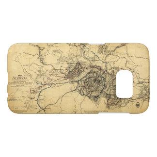 Civil War Atlanta Ga. Map (July 19 - Aug 26 1864) Samsung Galaxy S7 Case