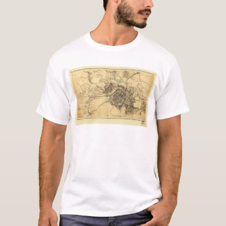 Civil War Atlanta Ga. Map (July 19 - Aug 26 1864) T-Shirt