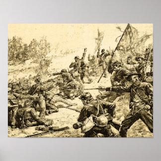 Civil War Battle American History Poster