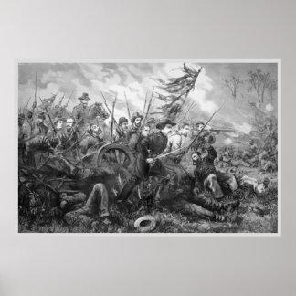Civil War Battle Charge Poster