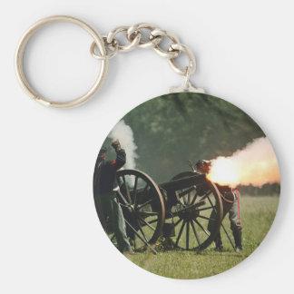 Civil War Cannon Basic Round Button Keychain