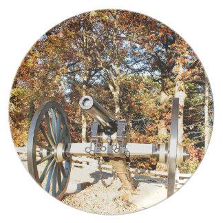 Civil War Cannon Dinner Plates