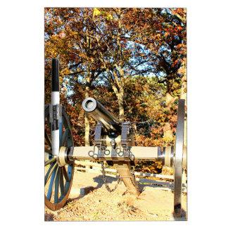 Civil War Cannon Dry Erase White Board
