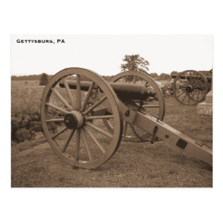 Civil War Cannon, Gettysburg, PA Postcard