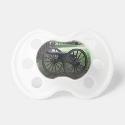 Civil War Cannon in Gettysburg Pacifiers