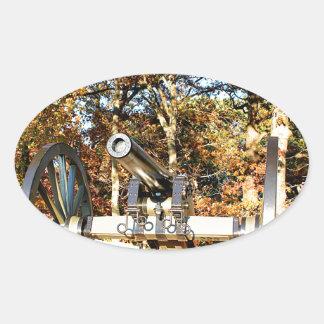 Civil War Cannon Oval Sticker
