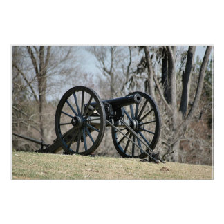 Civil War Cannon Poster
