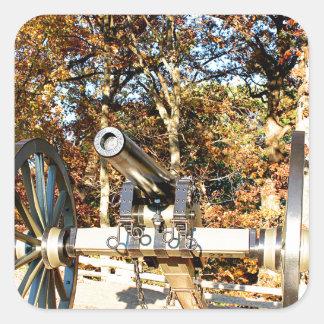 Civil War Cannon Square Sticker