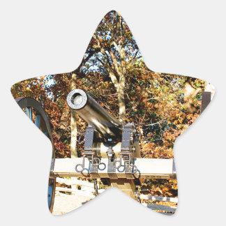 Civil War Cannon Star Sticker